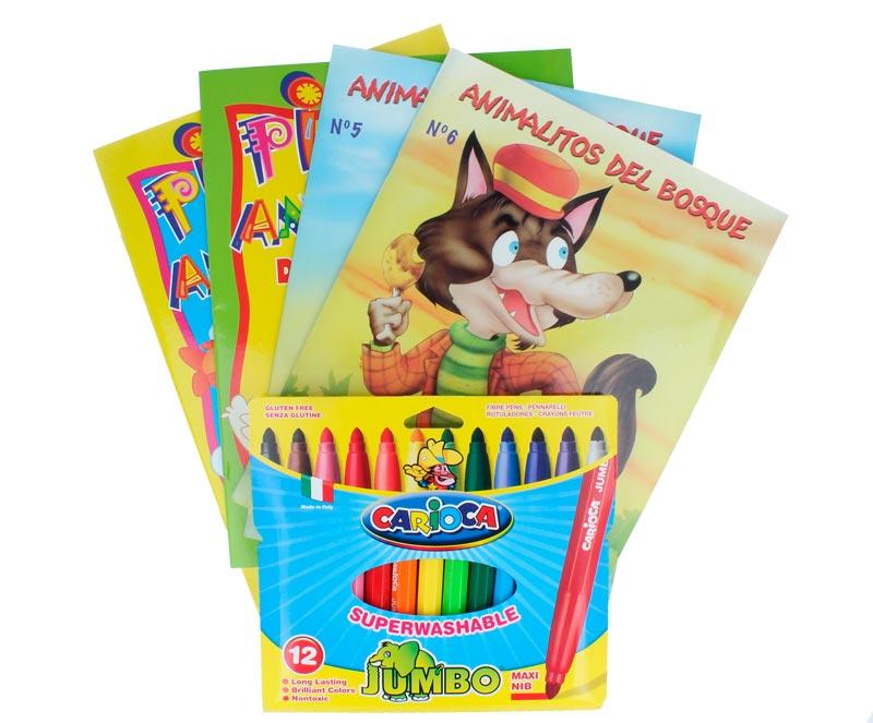 Libros educativos para niños Pack 7 - Guardería El jardín